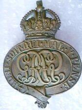 Badge- WW1 Grenadier Guards Regiment Valise Badge KC (BRASS, Org*)