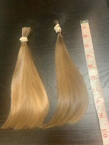 Human Hair Cut 9.5 Inch From Two Young Child Sisters, Soft and Fine Blonde Brown