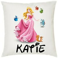 Personalised Kids Minnie Mouse Soft Cushion Cover 40x40cm