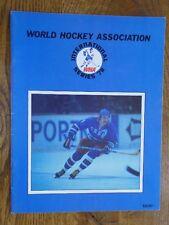 1977 WINNIPEG JETS vs CZECHOSLOVAKIA WHA Hockey Game PROGRAM International Serie