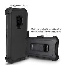 Samsung S9 Plus case cover, 2-in-1 Holster case & belt clip, full Body