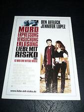 GIGLI, film card [Ben Affleck, Jennifer Lopez]