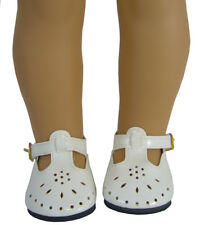 """Doll Clothes fits 18"""" American Girl Cream Patent T-Strap Shoes Accessories Kit"""