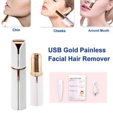 USB Gold Women Hair Shaver Touch Hair Epilator Finishing Remover Painless Facial