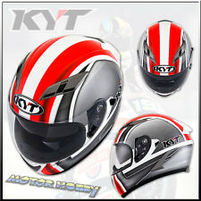 CASCO CASQUE HELMET  INTEGRALE KYT FALCON SIM WHITE RED FLUO TAGLIA M (57-58)