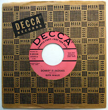 RUTH WALLIS 45 Donkey Is Jackass / Sad Calypso PROMO Pop DECCA 1957 w1580