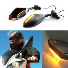 Carbon Motorcycle LED Turn Signal Mirrors For Yamaha YZF R1 R6 FZ1 FZ6 600R R3 F