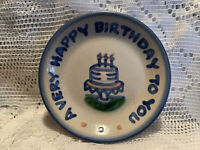 M. A. Hadley 4 Inch Coaster/Saucer: A Very Happy Birthday To You (3 Candles)