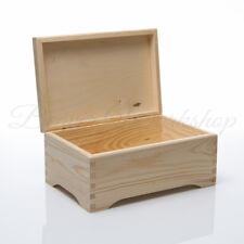 Wooden Box, Plain Keepsake Box, Box With Lid Plain Wooden Boxes 30x20x14