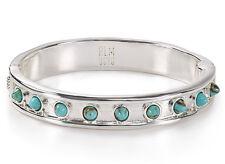 ROBERT LEE MORRIS Soho Turquoise-Resin Station Silver-Plated Bangle Bracelet