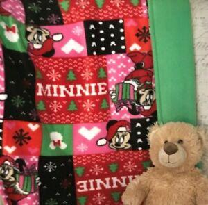 Minnie 28 x 49 Christmas Blanket Fleece Baby Toddler Throw Blanket Gift Lovey