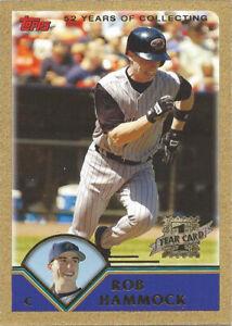 2003 Topps Traded Gold #T189 Rob Hammock FY 0379/2003 Arizona Diamondbacks