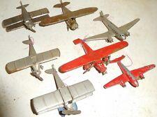 Tootsietoy 1920s-1940s Airplanes Aerodawn Tri-Motor Twa Bi-plane Pontoons