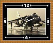 Harrier Jump Jet RAF Reloj Regalo Presente Navidad Cumpleaños (personalizable)