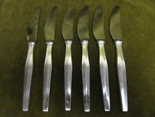 6 couteaux à dessert metal argente design 1960 Ercuis (dessert knives)