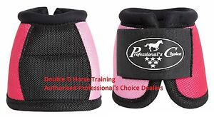 Professional's Choice BALLISTIC Overreach bell boots Coral / Lavender Prof Pro M