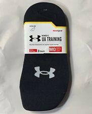 Under Armour Women's UA Training Ultra Low Socks 3 Pair Black Knit Sz 7-10.5
