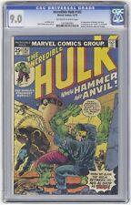 Incredible Hulk #182 CGC 9.0 HI GRADE KEY Wolverine Cameo 1st Hammer & Anvil