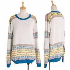 CABANE de ZUCCA Ethnic pattern knit sweater Size M(K-30177)