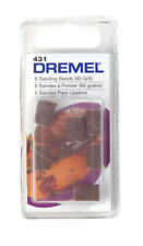 "(30) New Dremel 431 Sanding Drum 60 grit 1/4"" Rotary Tool Band Sleeve"