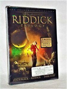 Riddick Trilogy (DVD, 2006, 3-Disc) Vin Diesel Karl Urban Katee Sackhoff