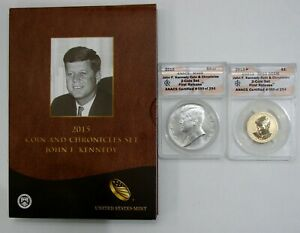 2015 John F Kennedy Coin & Chronicles Set ANACS MS RP 69 - w/ Original Box