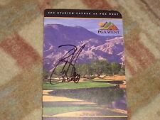 Bill Haas PGA West Signed Scorecard COA