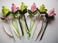 PINK GREEN DIAPER ROSE BABY SHOWER  ROSES TABLE DECORATION INVITATION FAVOR