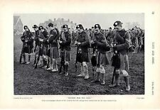 1915 WWI ~  LONDON SCOTTISH NCO's TAKING ORDERS FOR THE DAYS MANOEUVRES