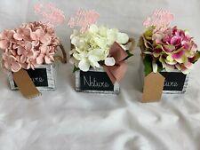 Mothers Day Artificial Silk Flower Hydrangea Gift Pot Arrangement Mum Nan Gran