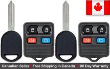 2x Remote & Transponder Ignition Key Ford Mazda Works for 80 / 40 bit Chip Keys