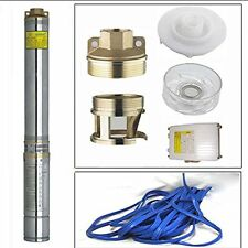 1.5HP Submersible Pump 4'' Deep Well 220V With Control Box & 33FT Cable
