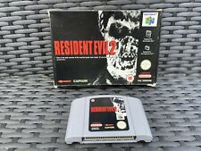 N64 Resident Evil 2 Complete In Box + Instructions PAL Good Condition