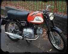 Aermacchi_250_1966 A4 Metal Sign Motorbike Vintage Aged