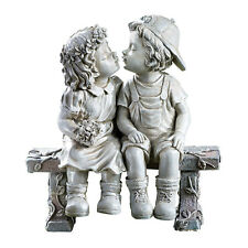 First Kiss, Puppy Love, Kissing Couple Garden Sculpture, by Collections Etc