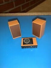 Vintage Miniature Doll House Furniture Lot Tomy Toy Record Player Speaker