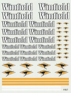 decals for cars 1/18 - winfield (1.18.7)