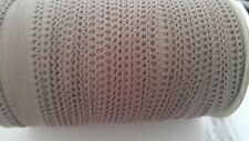 """Wholesale roll 144 yards TAUPE  picot elastic trim 7/16"""" W. great for lingerie"""