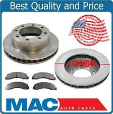 01-04 F250 F350 Super Duty 4X4 (2) Front 13 1/64 Inch Brake Rotors & Pads 4W ABS