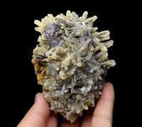 397.5g Natural beauty rare pyrite & fluorite crystal mineral specimens/China