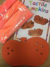 TACTILE PUMPKIN halloween decoration x30 pack school class craft children MYO