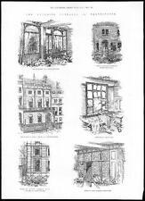 1884 Sol naciente Scotland Yard Carlton Club St James's Cuadrado dinamita (091)