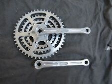 TRIPLE STRONGLIGHT CRANKSET 170 ARMS 28/36/46 CHAIN RINGS WHEELS ROAD VINTAGE