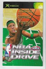 Xbox NBA Inside Drive 2003 Manual ONLY Booklet