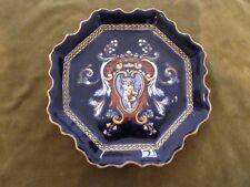 assiette dentelée faience gien renaissance bleue (1960) gien plate