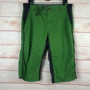 Prana Green 18 Inch Climbing Knickers Pants Sz Large B012