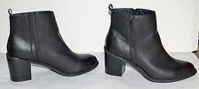 """3-1/4"""" chunky heel Size 13, 14  w wide Torrid black zipper unisex boots"""