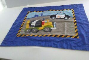 Dream Factory Pillow Sham Cement Truck Police Car 1 Standard Sham Multi Color