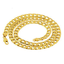 Fashion Men's 10mm 18K Yellow Gold Plated 24 Inches Cuban Link Chain Necklace DO