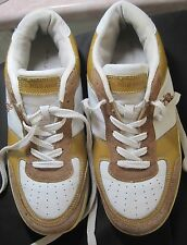 Us Polo Association tan and white sneakers athletic shoes boys size 7